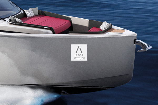 The attraction of the lines, this is the profile of the new A44 Luxury Tender
