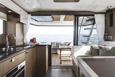 Cranchi T43 Trawler - Galley and dinette