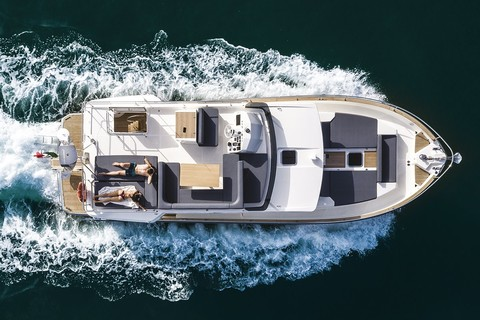 Cranchi T43 Trawler - Above view